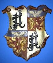 Wappen graf von der Decken, Ringelheim, Holzwappen um 1817, Adelsbesitz. Thomas Kern