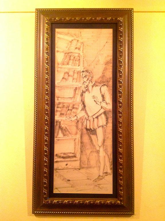 Ölgemälde von «Don Quixote» von dem Maler Jose Mx Otequi. Jose Mx Otequi Antiguedadesoratam