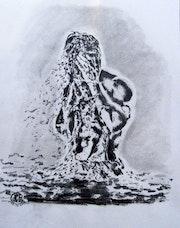 Homme dans l'eau.