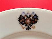 Porzellan Speiseteller aus einem Service Zar Nikolaus II von Rußland; Rarität!. Thomas Kern