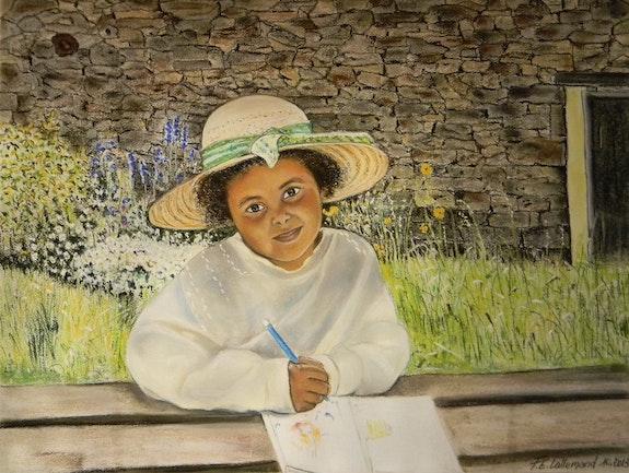 Peinture et rêverie au jardin d'été.. Françoise-Elisabeth Lallemand Françoise-Elisabeth Lallemand