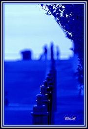 La ligne bleue.