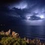 Orage au large Biarritz. Corinne Mengual