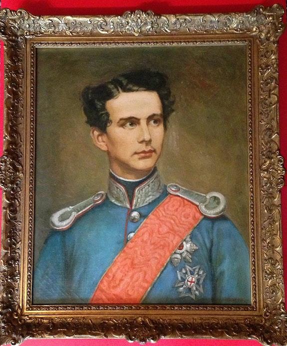 Gemälde König Ludwig II von Bayern, Öl auf Leinwand. Marck Thomas Kern