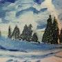 Paysage sous la neige. Gilles Duguet