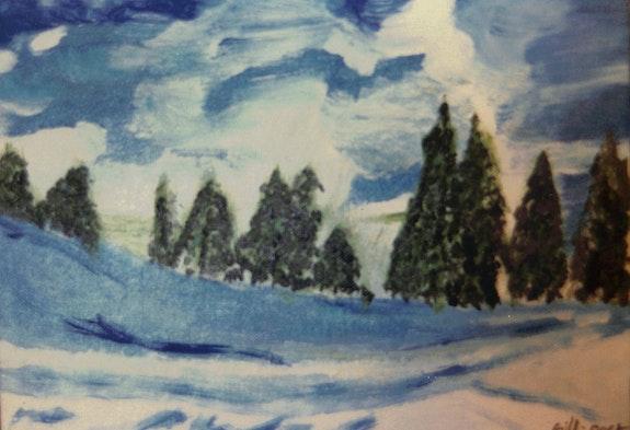 Paysage sous la neige. Gilles Duguet Gilles Duguet