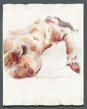 Anastasia Prone - Watercolour Nude.