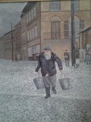 Porteur d'eau à Lublin en 1936.