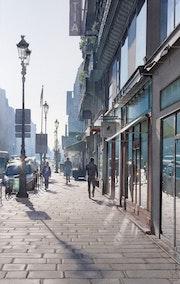Contre jour sur la rue de Rivoli.