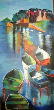 Barques dans le port.