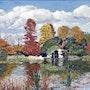 Reflets d'automne au parc de Bagatelle- Paris bois de Boulogne. Gérard Pichet