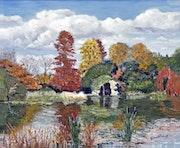 Reflets d'automne au parc de Bagatelle- Paris bois de Boulogne - Autumn reflecti.