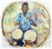 Musicien djembé Sénégal Bouba.