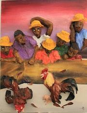 Combat de coq. Wilberte Dessalines Zozaya