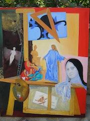 Allégorie biblique en trompe l'oeil dans l'atelier du peintre.