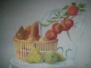 Le panier de fruits. Micheline Moine
