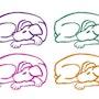 Varicoloured Dogs - limited original graphic - Jacqueline_Ditt. Universal Arts Galerie Studio Gmbh