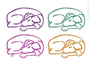 Varicoloured Dogs - limited original graphic - Jacqueline_Ditt.