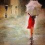 Corriendo bajo la lluvia. Maria Fernandez