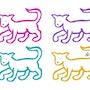 Varicoloured Cats - limited original graphic - Jacqueline_Ditt. Universal Arts Galerie Studio Gmbh