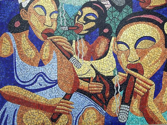 Cigarilleras. Mano Mosaic Monzon Family