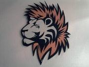 Tete de lion tableau.
