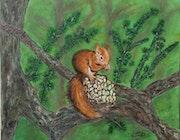 Un petit grignotage sur la branche..