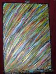 Pluie de couleur sur la toile.
