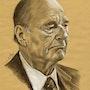 Portrait de Jacques Chirac. 051213. Philippe Flohic