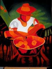 Le marchand d'oranges (d'aprés Toffoli). Brigitte Nabert