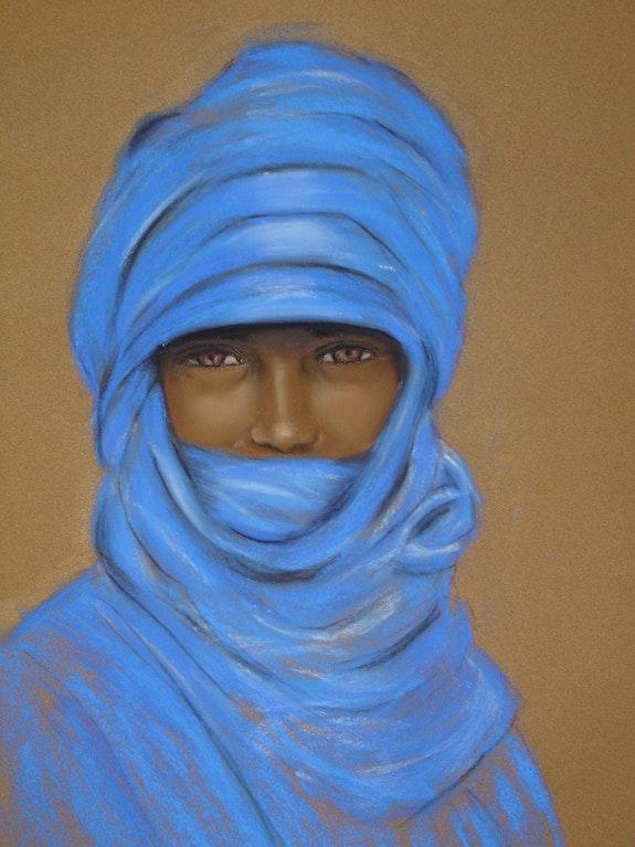 Homme bleu.  Joelle Bouriel