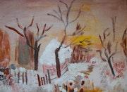 Paysage de neige. Nanou