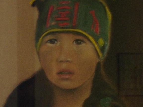 Fillette de mongolie.  Joelle Bouriel