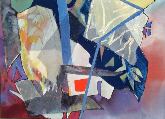«Mondlichthaus» - Collage, Seide. Rosemarie Bühler Rosemarie Bühler