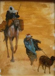 Peinture sous verre - 3ème essai d'orientalisme.