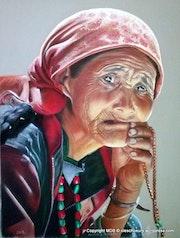 Vieille femme ladakhi.