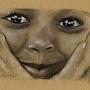 Visage enfant, mains sur joues. 151213. Philippe Flohic