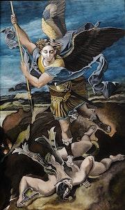 Le Grand St Michel terrassant le démon. Marie Colin