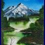 Kathy's mountain landscape. Dragonz Art