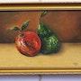 Pomme, poire. Huile et acrylique. Leroy Philippe