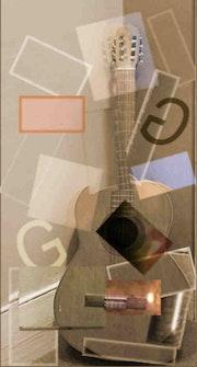 Guitare et collage. Jacques Terzian Couturier