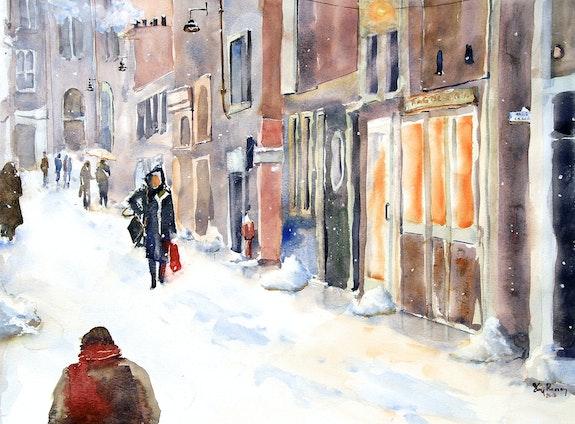 La ville enneigée. Guy Rossey Guy Rossey