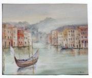 Le grand canal de Venise. Roblo