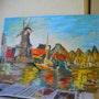 Paysage hollandais. Pierrette Kuhn