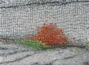 Vert et rouge sur gris. Claude Guillemet