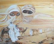 Mirage dans le sahara. Roani