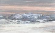 Soir d'hiver sur le Vercors.