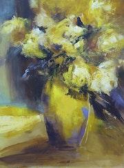 Le vase jaune.