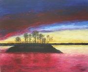 Mon île (acrylique).