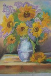 Bouquet de tournesols.